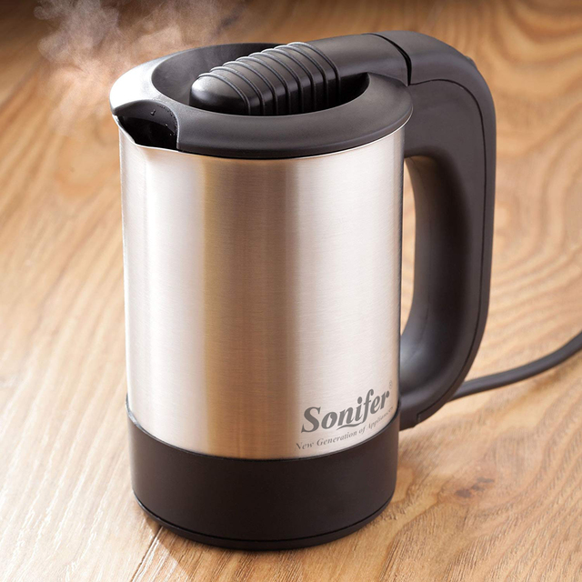 0.5L Mini Electric Kettle Stainless Steel 1000W Portable Travel Water Boiler Pot Sonifer Appliances Consumer Electronics