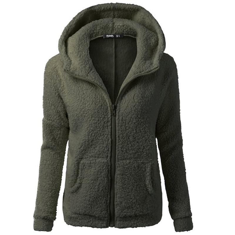 Winter Coats Women 2018 Hot Sell European American Fashion Hooded Sweatshirt Hair Coat Female Fleece-lined Sweatshirt Jacket Women's Clothing