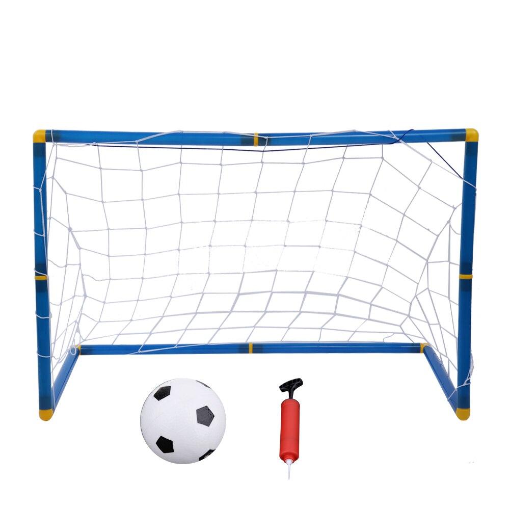 Portatile Pieghevole Obiettivo Set Porta di Calcio Cancello Calcio Indoor Outdoor Giocattolo di Sport Per Bambini Attrezzature Sportive Calcio Kit Porta