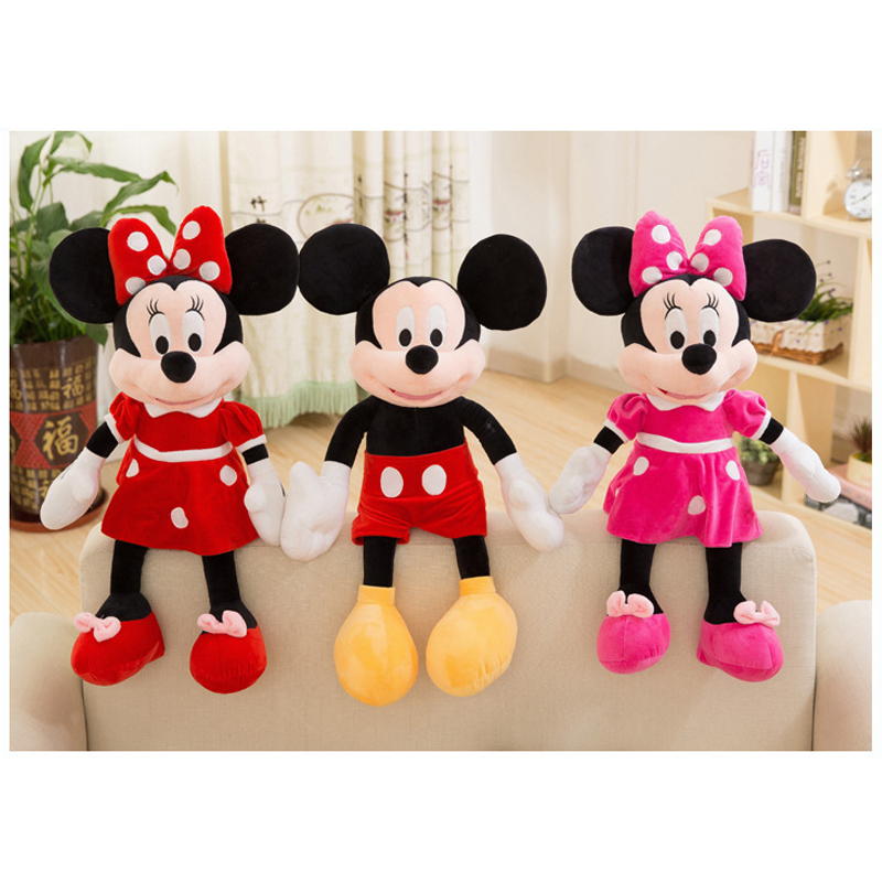 Hot Sale 40/50/70cm High Quality Stuffed Mickey&Minnie Mouse Plush Toy Dolls Birthday Wedding Gifts For Kids Baby Children