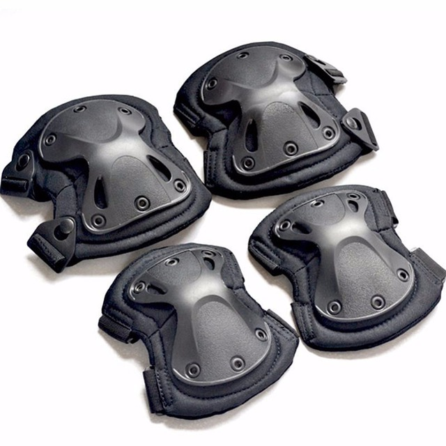4pcs/set of kneepad CS tactical armor knee pads elbow climbing field pulley riding exercise Sports protective gear