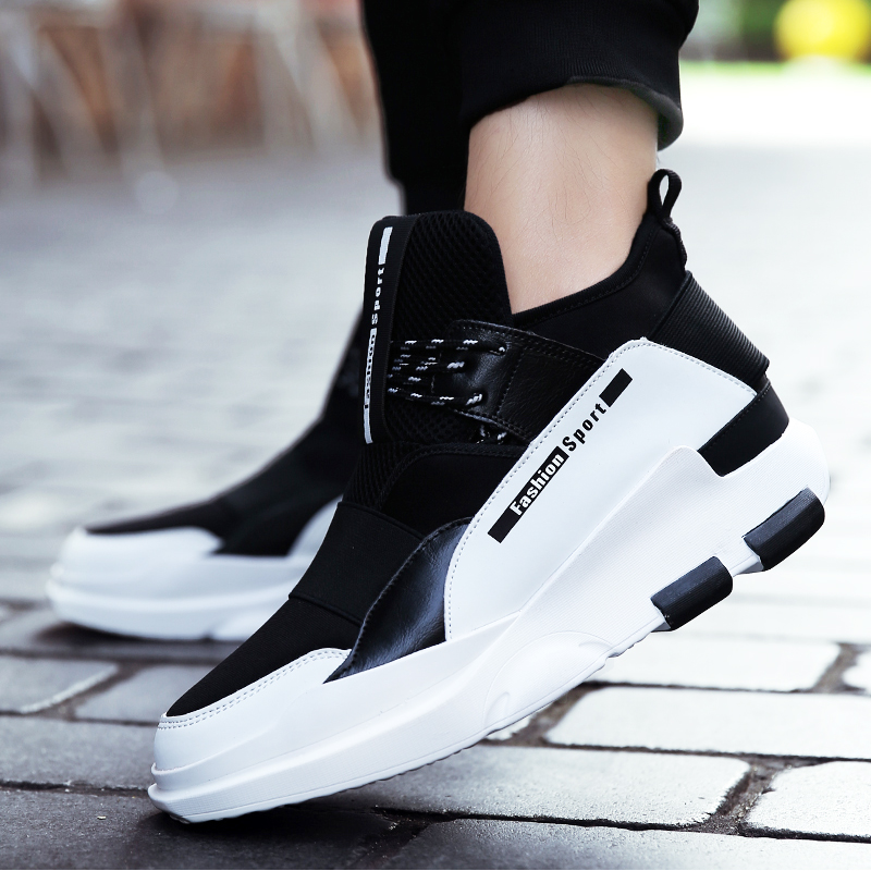2018 Summer New Stretch Fabric Sport Men Shoes Lace Up Jogging Trainers Breathable Sneakers Male Lace Up Basketball Shoes Sneakers