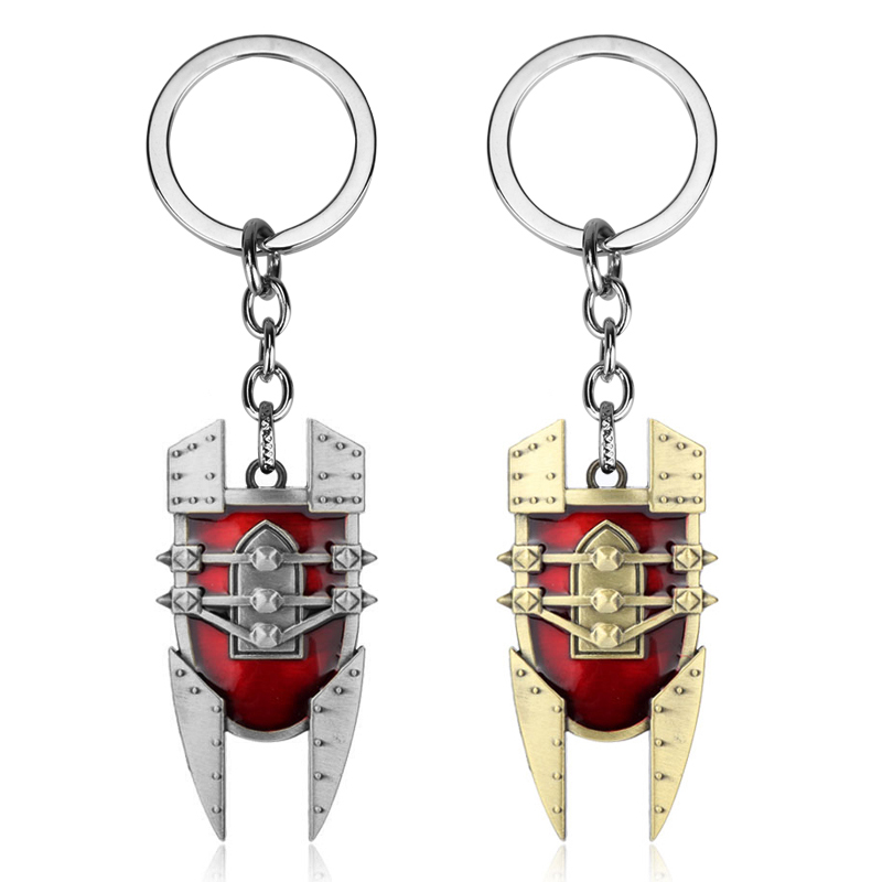 MQCHUN New Design Hot Game LO L Keychain the Mad Chemist Singed Red Shield intricate Pendant durable keyring-50