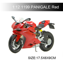 MAISTO 1:12 Ducat 1199 Panigale Red motorcycle model scale Motorcycle Metal Bike Miniature Race Toy For Gift Collection