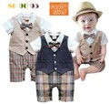 2015 New Autumn Handsome Infant boy Suit London Style Baby Boy Clothing Set Gentleman Fashion Baby Boys Wedding Suits