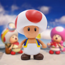 Série Super Mario Bros Cogumelo Toad 10 cm Mini PVC Action Figure Toy  Collectible Modelo Crianças 1d9146ce9f