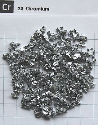 100 grams 99.99% Chromium Chrome metal small pieces - Element 24 sample dysprosium metal 99 9% 5 grams 0 176 oz