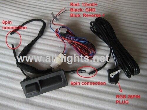 VW RGB REAR VIEW CAMERA Parking Reversing Camera For GOLF PLUS JETTA M5 MK6 TIGUAN NEW