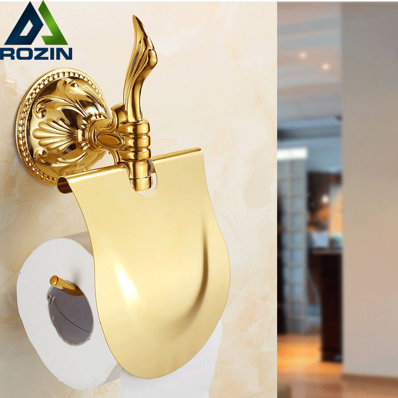 Free Shipping Wholesale And Retail TI-PVD Golden Toilet Paper Holder Wall Mount Bathroom Paper Tissue Rack Rod eurosvet люстра eurosvet bogate s 605 6