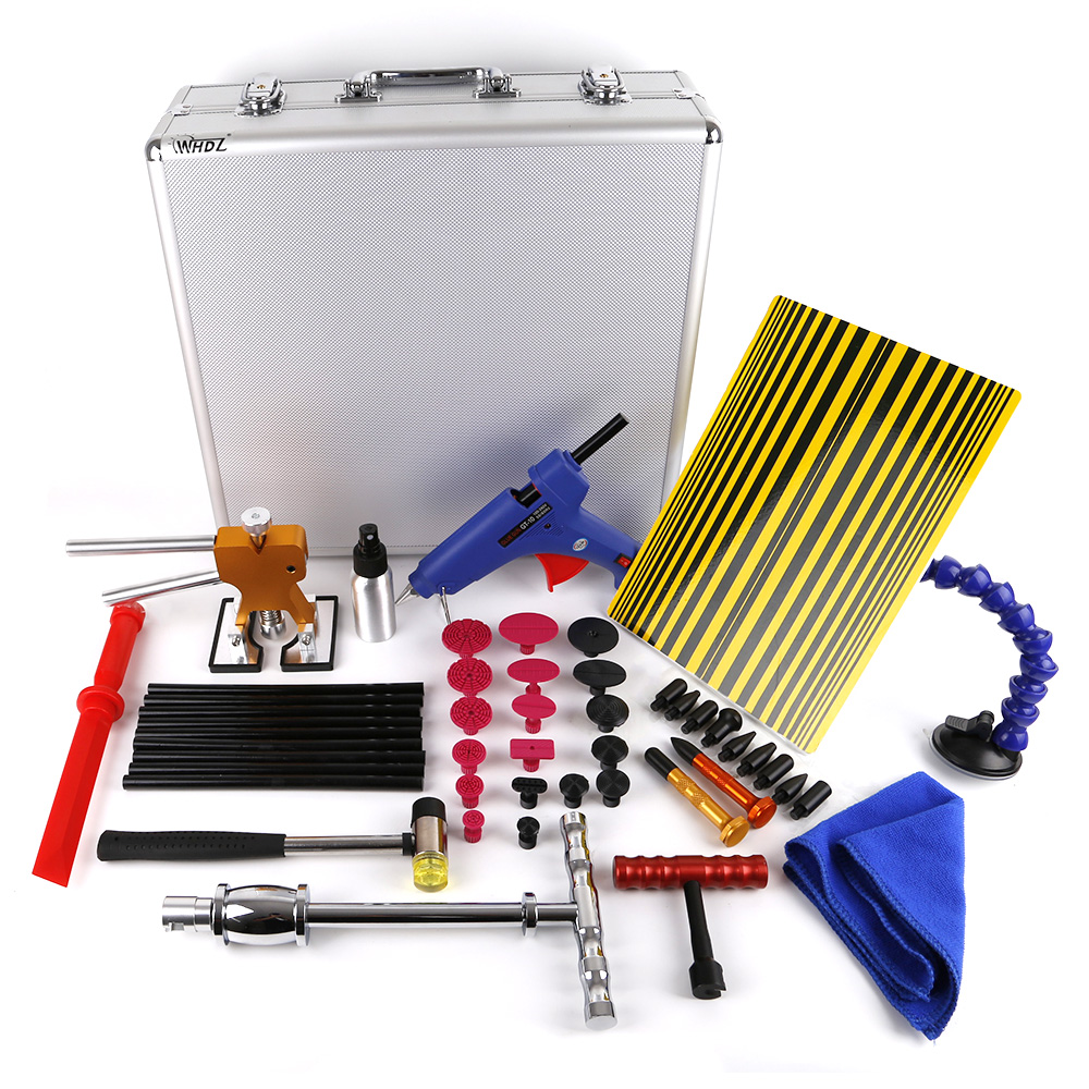 Hot 58 PCS Sider Hammer Glue Gun Tabs Glue Sticks PDR Pro Tabs Tap Down Line Board Body Dent Repair Auto Dent PDR Tool Kit