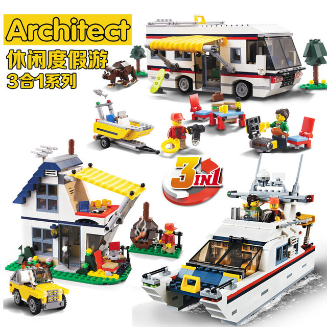3in1 Vacation Getaways City Building Block Kit 8