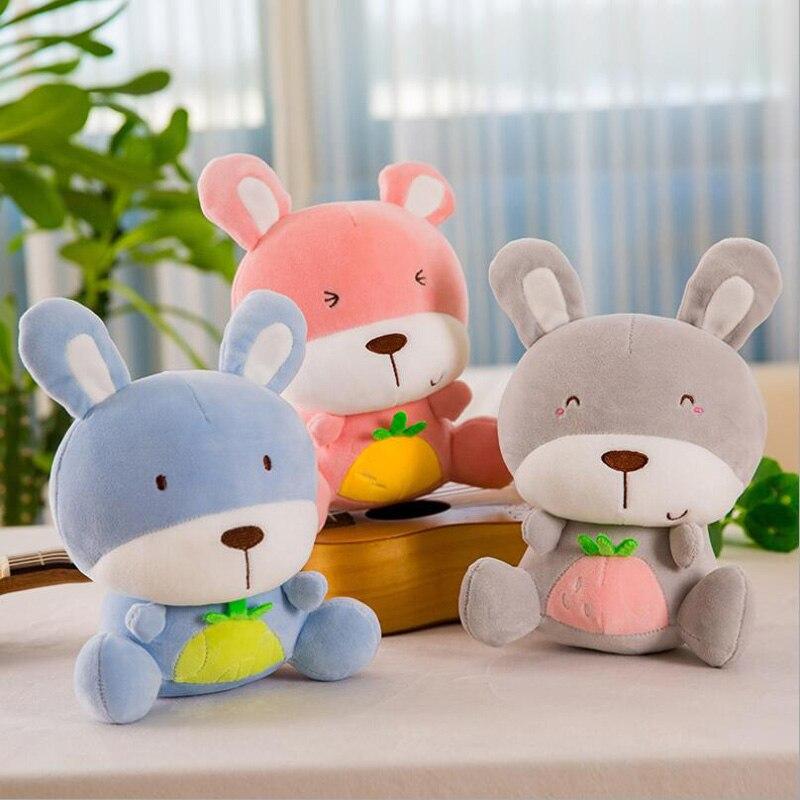 25 cm Fruto Lindo Coelhinho de Pelúcia Macia Toy Stuffed Animal Plush Boneca para Enviar Presentes para Crianças & Friends