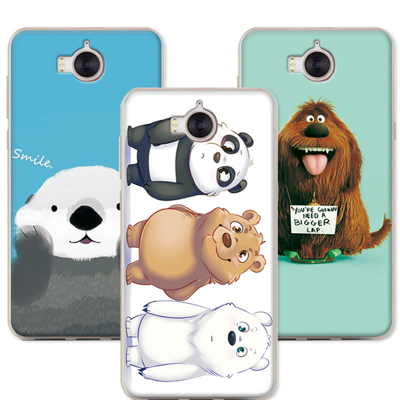 buy bear carton case for huawei y6 2017 5 0 coque colorful funda soft silicone. Black Bedroom Furniture Sets. Home Design Ideas