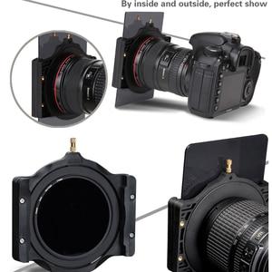 Image 4 - Übrigens 100mm ND Quadratische kamera filterhalter & adapter ring für Cokin lee Nisi Zomei 100*100 100*150mm Filter