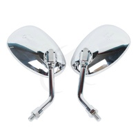 Pair of 10MM Chrome Side Rear View Mirrors For YAMAHA XJR XV XVS V-MAX FZ6N FZ1N MT-01 MT-03 VMAX1700 V-MAX1200 1