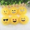 6 Pcs Emoji Faces Squeeze Stress Ball Hand Anti Stress Ball Fun Toys Practical Jokes Shine Chuzzle Funny Baby Toy Shine Ball
