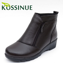 Winter snow boots Medium Casual shoes new genuine leather ankle boots Plus size 35-41 fashion casual ugs australia boots women