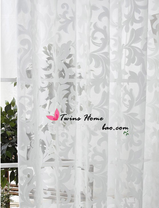 Buy Curtains For Living Room Modern Sheer Kitchen Cortinas Luxury White Tulle