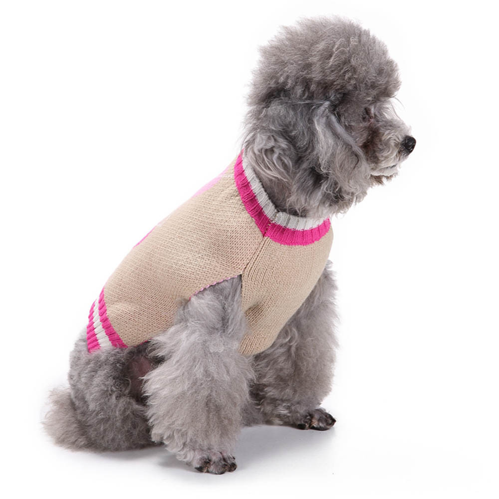 2018 TOP FASHION Heart Pattern Pet Dog Puppy Cute Clothes Puppy Winter Sweater 0425 ...