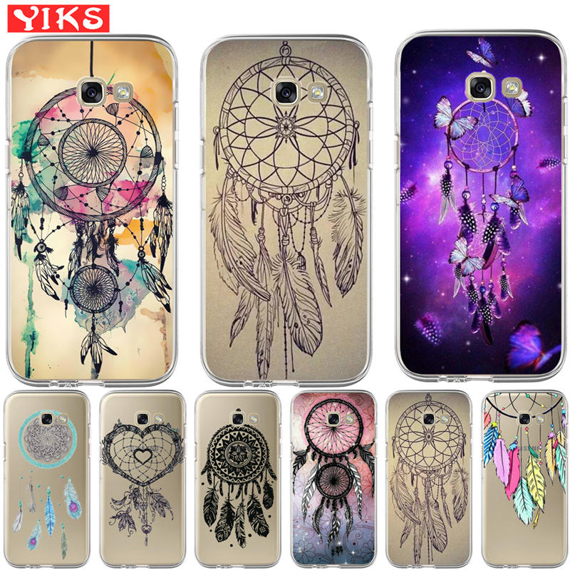Luxury Dream Catcher pattern Case For Coque Samsung Galaxy J3 J5 J7 A3 A5 A7 A8 2017 2016 2015 2018 Phone Back Cover image