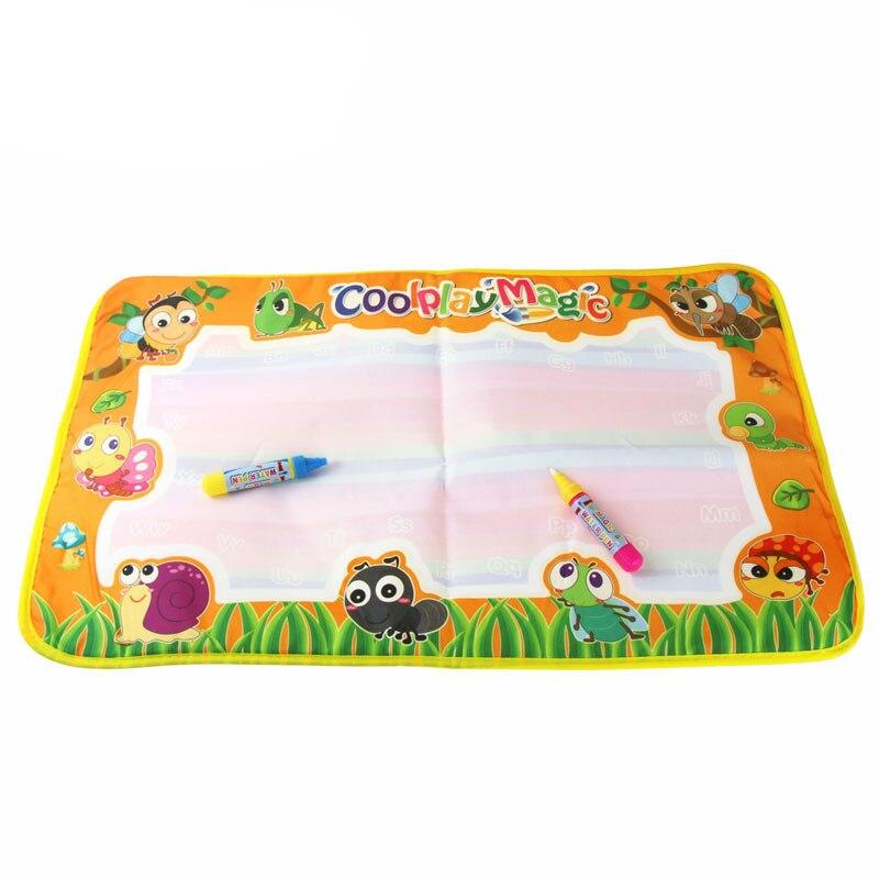 Stzhou 1 шт. 29x19 см 4 цвета мини воды рисунок коврик & 1 Волшебное перо для детей