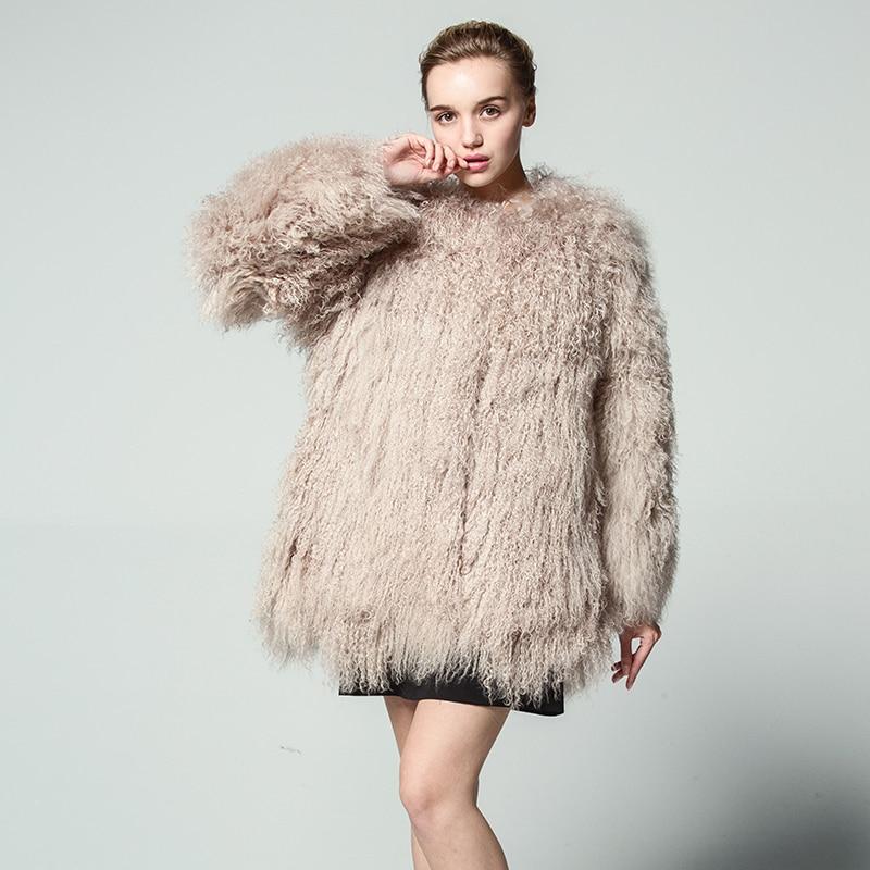 2018 természetes birkabőr-szőrme női téli kabátok Kawaii - Női ruházat