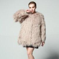 2018 Natural Sheepskin Fur Womens Winter Coats Kawaii Lining China Furry Big Size Jackets For Women Shearling Mouton sheep