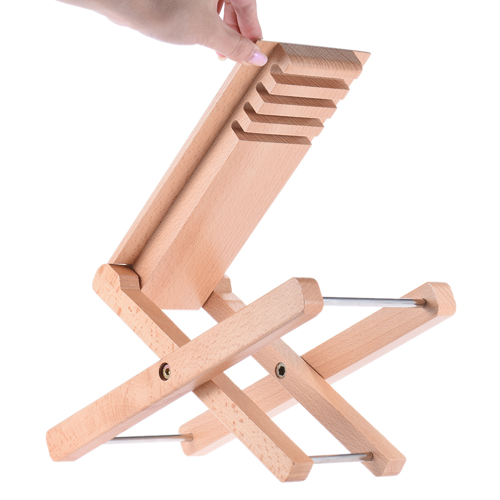 Sports & Entertainment Foldable Wooden Guitar Foot Rest Stool Pedal 4-level Adjustable Height Beech Wood Material Guitar Parts & Accessories
