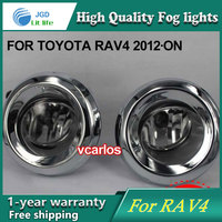 2PCS/Pair Halogen Fog Light For Toyota RAV4 2012 ON High Power Halogen Fog Lamp Auto DRL Lighting Led Headlamp