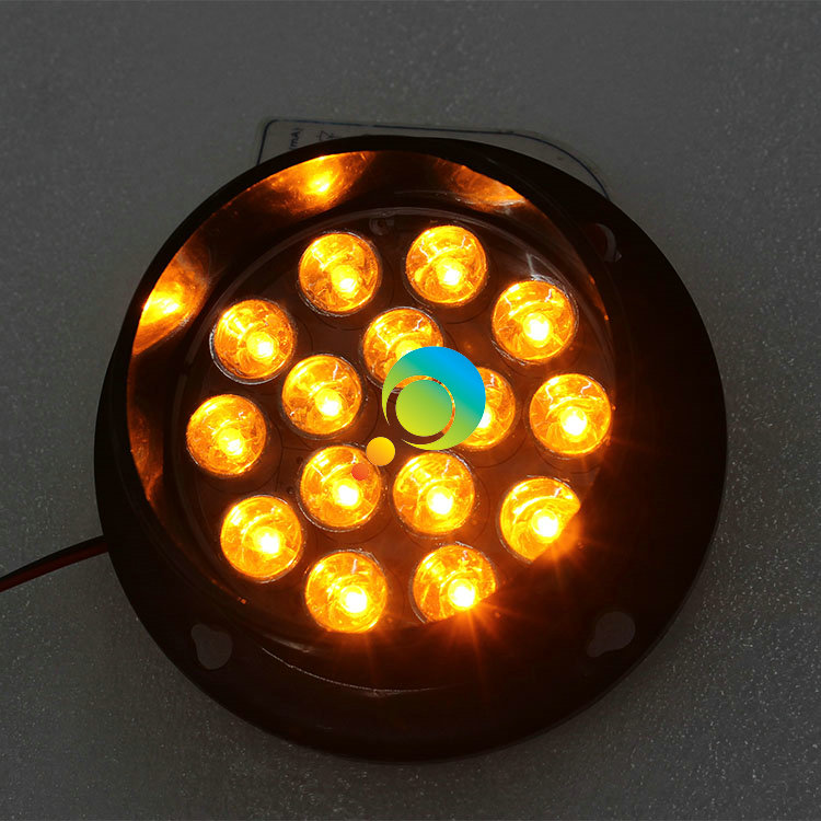 Best Quality 82mm Lamp Yellow Flashing Light Arrow Board Parts 15pcs LED Traffic Light Lens