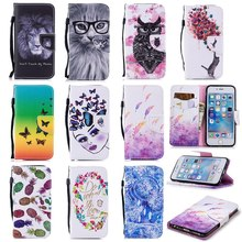 Fashion Pink Flower Flip Case For iPhone 6 S 6 Plus 7 7 Plus 5 5S SE Stand Wallet PU Leather + Soft TPU For iPhone 8 8Plus Cover стоимость
