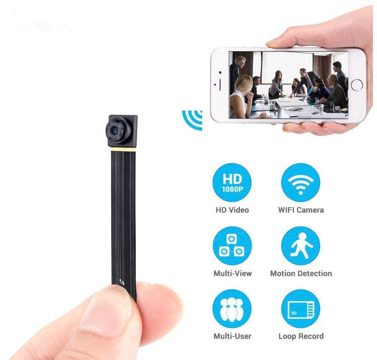 1080P Wireless WiFi Mini Camera Module DIY Indoor Outdoor Portable Small Security Camera ...