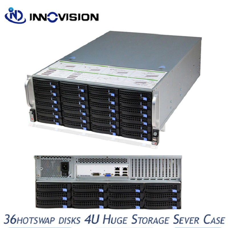 Optimized 36bays 4u hotswap rack server chassis S46536 with 6gb expander backplane for huge storage server/cloud computer stable huge storage 16 bays 3u hotswap rack nvr nas server chassis s36504