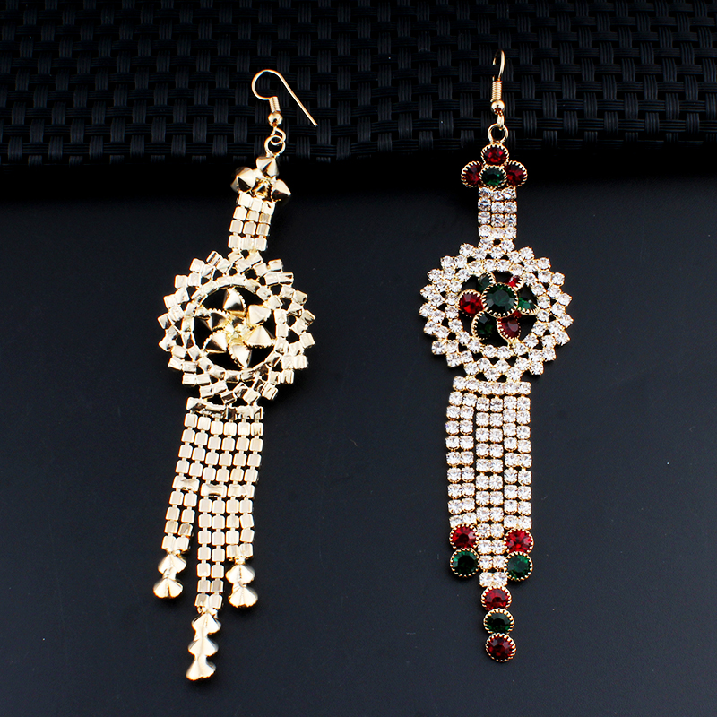 Jiayi Jiaduo Charm Indian Women Jewelry Long Earrings Banquet Crystal Accessories Gifts Dropshipping New In Drop From