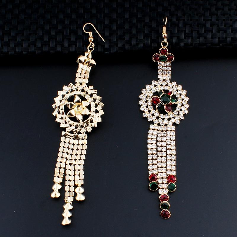 Jiayi Jiaduo Charm Indian Women Jewelry Long Earrings Banquet Crystal Accessories Gifts Dropshipping New In Drop From
