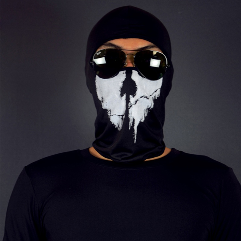 4 Styles Ghost Masks Skull Balaclava Head Mask Ourdoor Bicycle Cycling Army Tactical Full Face Mask head cover outdoor mask with skull head motorcycle bicycle riding climbing uv protect full face ghost skull mask skeleton hats