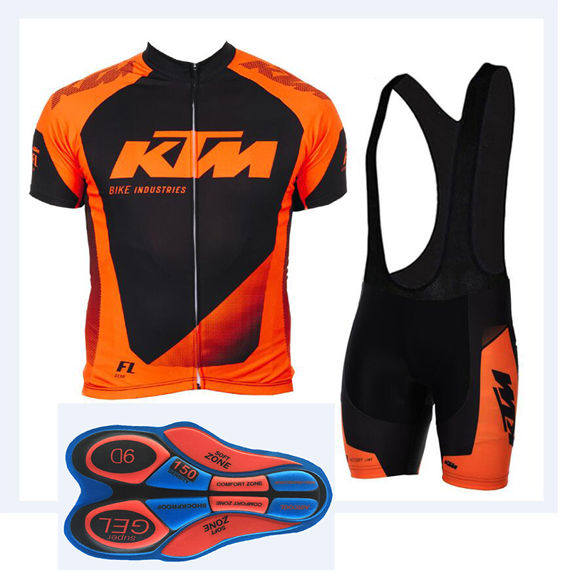 NEW Pro Team KtM Cycling Jersey Set MTB Bicycle clothing Men Short Ropa Ciclismo Bike Wear Clothes Maillot Culotte 9D gel pants tinkoff saxo bank cycling jersey ropa clismo hombre abbigliamento ciclismo men s cycling clothing mtb bike maillot ciclismo d001