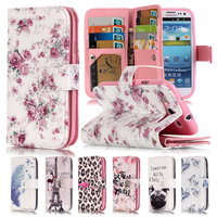 3D Relief Flower Flip Case For Samsung Galaxy S3 Case Leather Wallet Silicone Phone Case Samsung