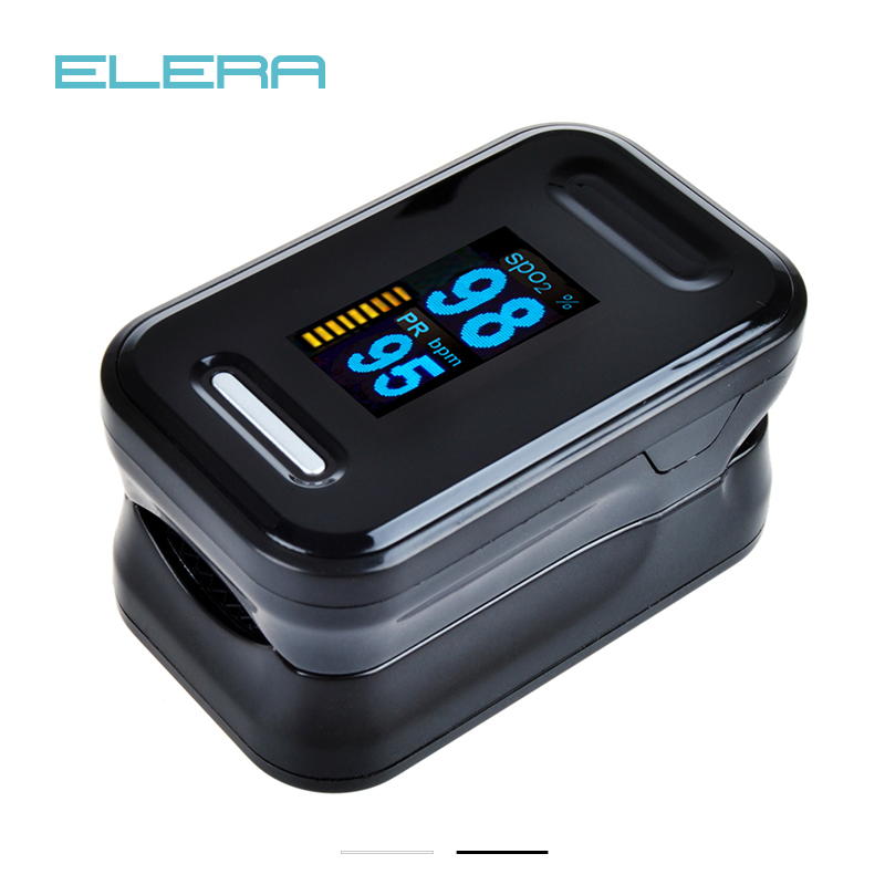 ELERA CE FDA OLED Portable Blood Oxygen SpO2 PR Saturation Finger Pulse Oximeter Fingertip oximetro de dedo