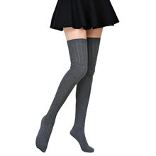 d5c8db9d23d 1 Pair Sexy Womens Winter Thigh High Elastic Stockings Socks Over the Knee  Socks Long Cotton Stockings For Girls Ladies Women