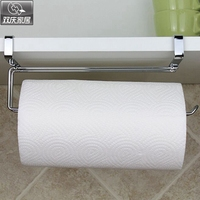 Bathroom Paper Tube Roll Holder Stainless Steel Door Rack Towel Holder Hanging On Kitchen Cabinet Door