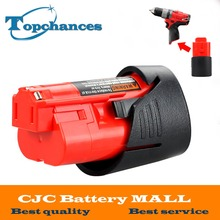 High Quality 12V 2000mAh Li-Ion Replacement Power Tool Battery for Milwaukee M12 C12 BX C12 B 48-11-2402 48-11-2401
