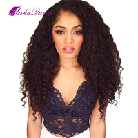 Glueless Kinky Curly Full Lace Wig,Brazilian Virgin Full Lace Human Hair Wigs 130% For Black Women, Afro Curly Wig Free Shipping