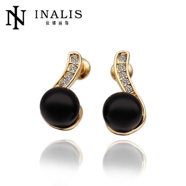 7d75e3a72cb0 E486 al por mayor níquel libre antialérgico oro color Pendientes para las  mujeres Nueva joyería de moda