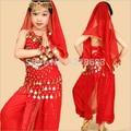 Child Girls Yellow Blue Pink Red Oriental Dancing Bellydance Wear Bellydance Dress Belly Dancing Clothes Top&Pants For Kids