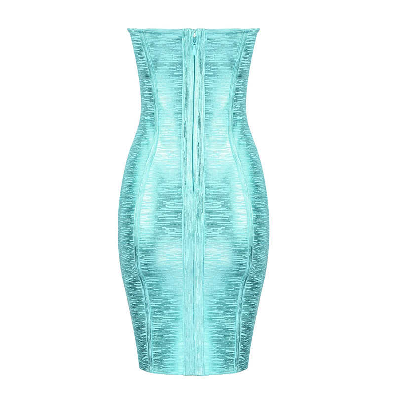 Free Shipping Sexy Strapless Bronzing Bandage Dress 2019 Designer  Party Dress Vestido