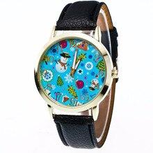 Relogio feminino Fashion Christmas Gift Clock Women's Watches Leather Band Quartz watch Ladies Fast shipping #0831