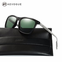AEVOGUE Polarized Sunglasses Men TR90 Frame Aluminium Magnesium Temple Summer Style Luxury Sun Glasses With Box