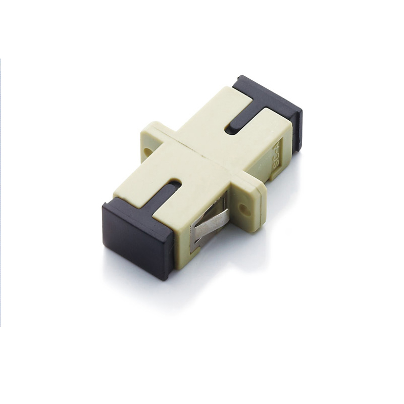 free shipping 50pcs SC SC multimode simplex flange coupler SC UPC adapter fiber coupler in Fiber Optic Equipments from Cellphones Telecommunications