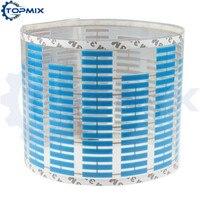 Bleu De Voiture Rhythm LED Flash Light Sonore Activé Égaliseur Automatique Autocollant De Voiture 45X11 CM